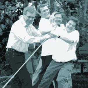 Outdoor Team Training: Alle ziehen an einem Strang