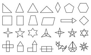 Geometrische Formen und mögliche Aufgaben für große Projektteams